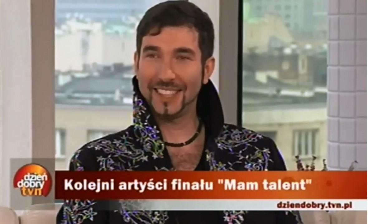 iluzjonista Marcin Muszy?ski w Dzie? Dobry TVN