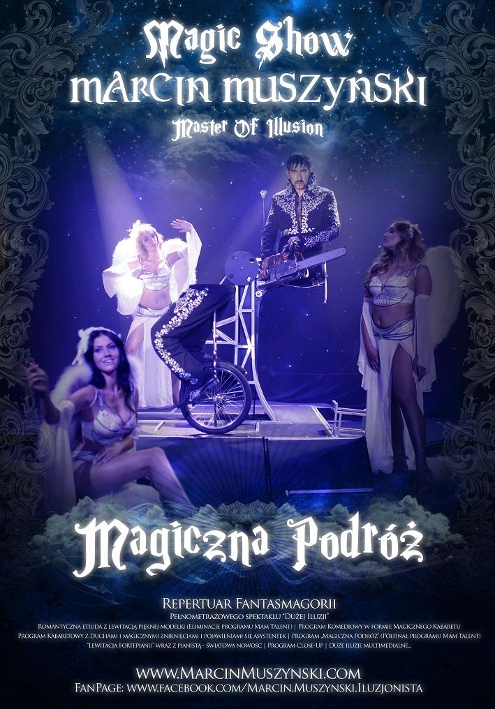Plakat Iluzjonista Marcin Muszynski Magiczna Podroz